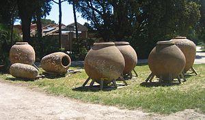 Dolium - Dolia at Ostia Antica.