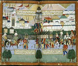 Lala Mustafa Pasha's Caucasian campaign - Lala Mustafa Pasha's Ottoman army parading before the walls of Tblisi in August 1578.