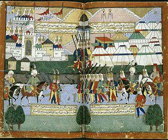 Lala Mustafa Pasha's Caucasian campaign - Lala Mustafa Pasha's Ottoman army parading before the walls of Tblisi in August 1578.