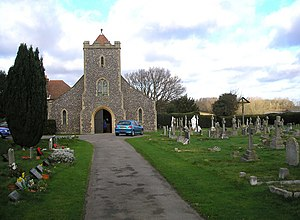 Effingham, Surrey - The Roman Catholic church to Our Lady of Sorrows was built in 1913 largely by George Pauling