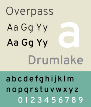 Overpass (typeface) - Image: Overpass sample image