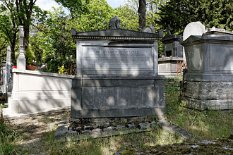 Charles William Doyle - Doyle's tomb in Père Lachaise Cemetery