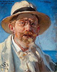 P.S. Krøyers sidste selvportræt