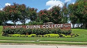 Paul Quinn College - PQC entrance sign