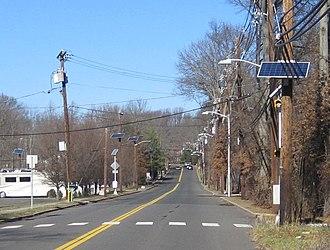 Solar power in New Jersey - Image: PSE&G Solar panels utility poles