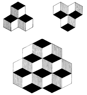 Optical illusion image used in psychological tests