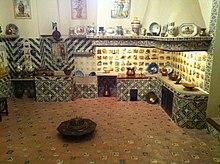 Cocina de un palacio del siglo XVIII.