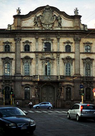 Palazzo Litta, Milan - Central portion of the rococò façade