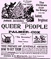 Palmer Cox -Frogs Queer People- Front page ad from the Galveston Daily News on the 29th of November 1894.jpg