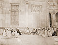 Pandit Bapudeva Sastri (1821-1900), Professor of Astronomy, teaching a class at Queen's College, Varanasi.jpg