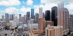 File photo of downtown Houston in 2010. Image: Hequals2henry.