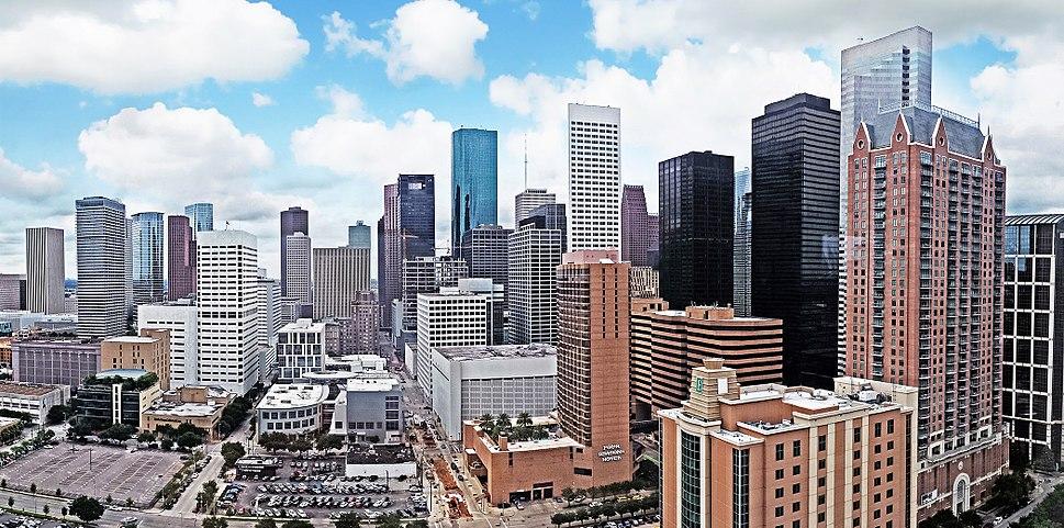Panoramic Houston skyline