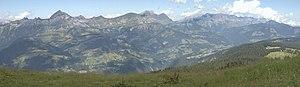 Aravis Range - Image: Panoramique Aravis Sud Nord