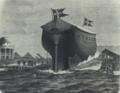 Panserkorvetten Peder Skrams Afløbning d. 28. oktober 1864.png