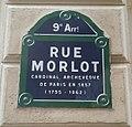 Paris 9e - Rue Morlot (plaque).jpg