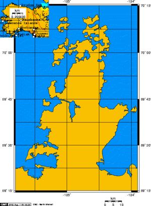 Parry Peninsula - Parry Peninsula, Canada and inset showing Alaska.