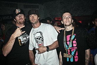 Jereme Rogers - Jereme Rogers (right) with Pat Duffy and Danny Way, 2007 (photo: Dilia Oviedo)