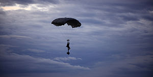 Pathfinder Platoon - UK Pathfinder Parachuting During Exercise Eagle's Eye