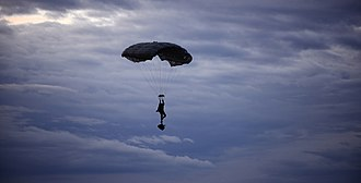 Pathfinder Platoon - UK Pathfinder parachuting during Exercise Eagle's Eye