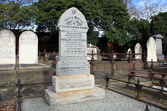 John Gibson Paton - The grave of John and Margaret Paton at the Boroondara Cemetery in Kew