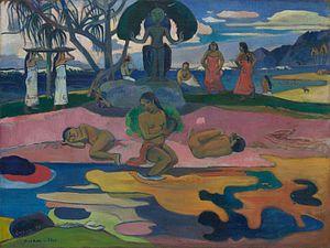Paysage coloré aux oiseaux aquatiques - Image: Paul Gauguin 113