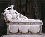 Pauline Bonaparte by Antonio Canova. Borghese Gallery