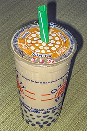 Pearl milk tea typically found in Taiwan