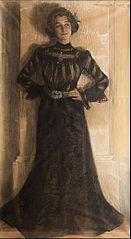 Portrait of the artist´s wife: Marie Kröyer