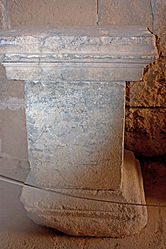 Pedestal in acropolis of Lindos 2010 9.jpg