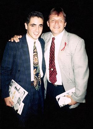 Pedro Zamora - Pedro Zamora (left) with Alonso R. del Portillo in 1993.