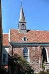 foto van Preekstoel en orgel in de Pelstergasthuiskerk