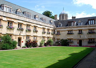 Pembroke College, Oxford - Old Quad, with Tom Tower in the distance