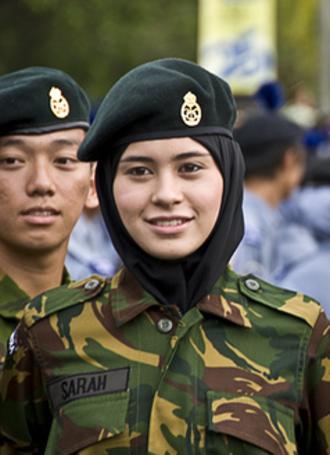Sarah, Crown Princess of Brunei - Pengiran Anak Sarah in her army cadets uniform in 2009