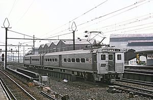 Arrow (railcar) - A two-car set of Arrow I cars in Penn Central service in 1969