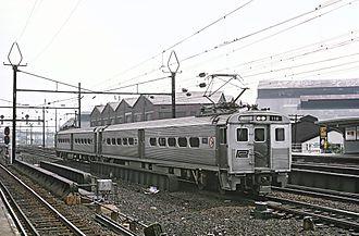 Arrow (railcar) - A two-car set of Arrow I cars in Penn Central service in 1969