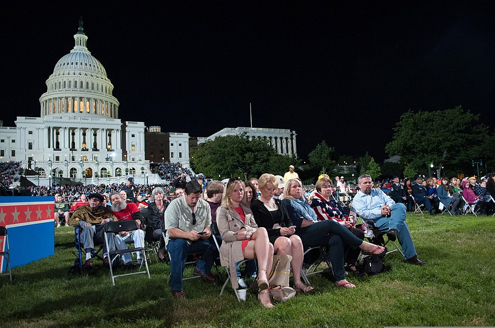 People attend a Memorial Day concert on the west lawn of the U.S. Capitol in Washington, D.C., May 26, 2013 130526-A-AO884-346