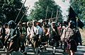 People walking during the Battle of Cropredy Bridge Reenactment 1983.jpg