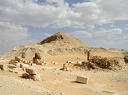 Ruins of the pyramid complex of Pepi II, the longest reigning monarch in recorded history