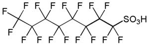 Sulfonic acid - Image: Perfluorooctanesulfo nic acid