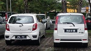 Perodua Viva - The Perodua Viva (right) was succeeded by the Perodua Axia (left)