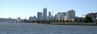Perth Water Body of water of Swan River, Western Australia, adjacent to the Perth CBD