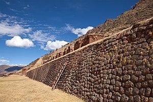 Huchuy Qosqo - Inca wall and agricultural terrace (anden)