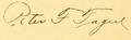 Peter F Tague signature.png