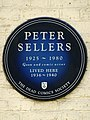 Peter Sellers 1925 - 1980 Goon and comic actor lived here 1936-1940.jpg