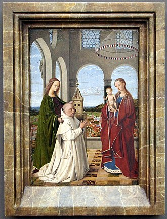 Madonna of Jan Vos - Exeter Madonna, Petrus Christus, c 1450. Gemäldegalerie, Berlin