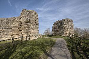 Pevensey Castle - Roman west gate of Pevensey Castle