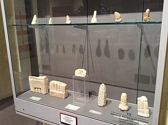 Phallic architecture - Phallic Temple period (3,500 B.C. - 2,500 B.C.) items at the National Museum of Archaeology, Malta