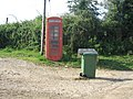 Phone box at Slaughterford - geograph.org.uk - 208696.jpg