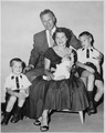 Photograph of Representative Gerald R. Ford with his Wife Betty and Their Sons - NARA - 186866.tif