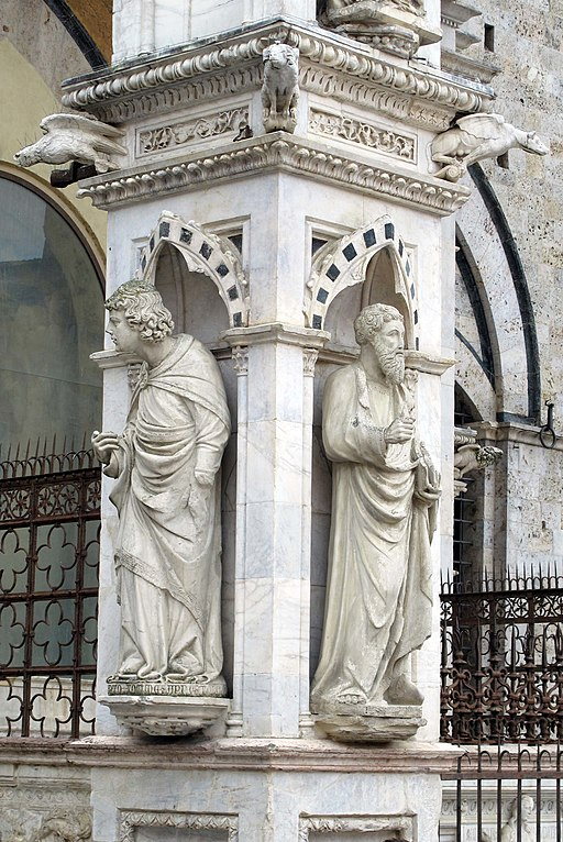 Sculture di Mariano di Angelo e Lando di Stefano per la Cappella di Piazza, Piazza del Campo